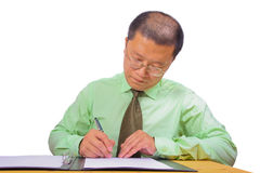 Chinese businessman stock photo