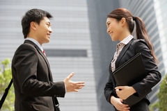 Chinese Businessman And Businesswoman Stock Photography
