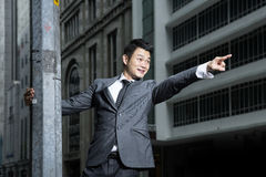 Chinese Businessman pointing to the future. Stock Images