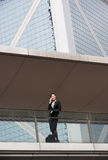 Chinese Businesswoman Outside Office Royalty Free Stock Photos