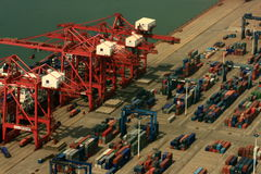 Chinese busy port Royalty Free Stock Photography