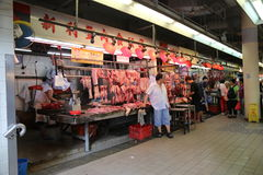 Chinese Butcher Royalty Free Stock Photo