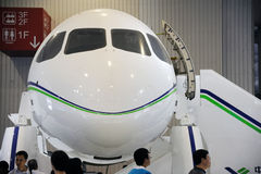 Chinese C919 aircraft head Royalty Free Stock Photo