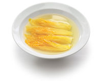 Chinese cabbage in clear soup Stock Images
