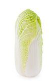 Chinese cabbage in a cut isolated on white background. Fresh chinese cabbage in a cut isolated on white background Stock Photos