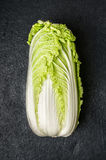 Chinese cabbage on dark stone background Stock Photo