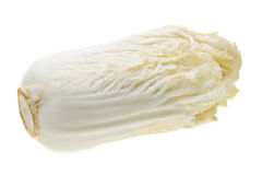 Chinese cabbage  isolated on white Royalty Free Stock Images