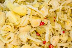 Chinese cabbage pickled Stock Photos