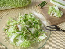 Chinese cabbage salad Stock Photography