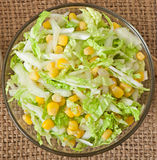 Chinese cabbage salad with sweet corn Stock Photo