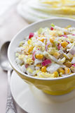 Chinese cabbage, sweet corn and surimi salad Stock Photography