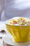 Chinese cabbage, sweet corn and surimi salad Royalty Free Stock Photography