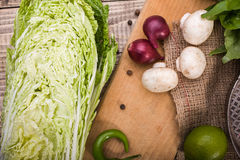 Chinese cabbage with vegetables Royalty Free Stock Image