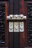Chinese cabinet and lock. Chinese archaic cabinet and lock Stock Photos