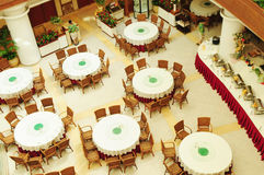 Chinese cafeteria restaurant. A cafeteria restaurant serve Chinese food and dishes in the ground floor of a luxury resort hotel Stock Photography