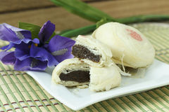 Chinese cake. In dessert plate Stock Images