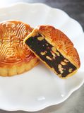 Chinese cake, moon cake Royalty Free Stock Images