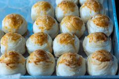 Chinese cakes on a tray of empty time. royalty free stock images