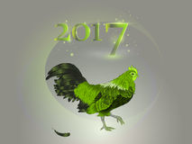 Chinese calendar. Year of the rooster. 2017. Stock Photo