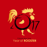 Chinese Calendar for the 2017 Year of Rooster. Vector Illustrati. On EPS10 Royalty Free Stock Photography