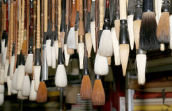 Chinese calligraphie brushes, Xian (Sian, Xi'an) Stock Photography