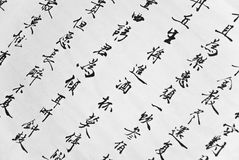 Chinese calligraphy. ,The traditional culture Stock Photos