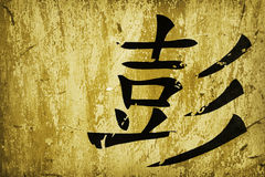 Chinese calligraphy. Symbol on grunge background surface Royalty Free Stock Images