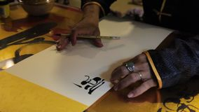 Chinese calligraphy stock video footage