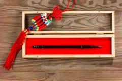 Chinese calligraphy brush in box Royalty Free Stock Photo
