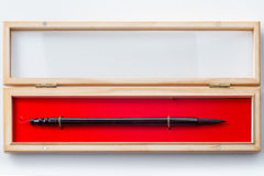 Chinese calligraphy brush in box on white Stock Photography