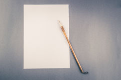 Chinese calligraphy brush for traditional writing Royalty Free Stock Photo