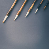 Chinese calligraphy brush for traditional writing. Square Stock Photography