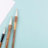 Chinese calligraphy brush for traditional writing. Square Royalty Free Stock Photo