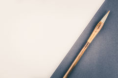 Chinese calligraphy brush for traditional writing. Top view Royalty Free Stock Photos