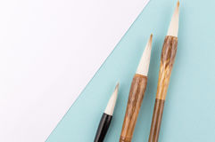 Chinese calligraphy brush for traditional writing. Top view Royalty Free Stock Image