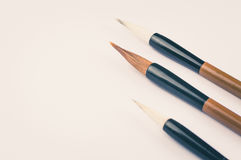 Chinese calligraphy brush for traditional writing. Top view. The chinese calligraphy brush for traditional writing Royalty Free Stock Photos