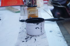 Chinese calligraphy ink Royalty Free Stock Photo