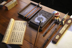 Chinese calligraphy instruments Royalty Free Stock Images