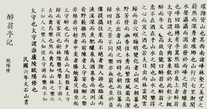 Chinese calligraphy text background Stock Images