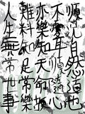 Chinese calligraphy wall ink Royalty Free Stock Photos