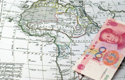 Chinese capital into Africa royalty free stock photos