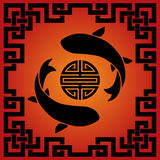 Chinese carp background Stock Photo