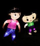 Chinese cartoon lanterns Stock Images