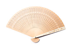 Chinese Carve Hand Fan Stock Photos