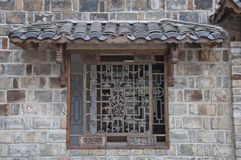 Chinese carved wooden window Royalty Free Stock Photo