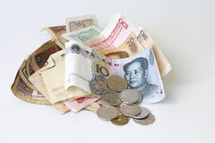 Chinese cash flow Royalty Free Stock Image