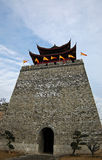 Chinese Castle. The castle is an ancient Chinese military fortifications Royalty Free Stock Photos