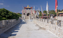 Chinese castle in the town of Pai Royalty Free Stock Photo