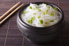 Chinese cellophane noodles close up in a bowl. horizontal Stock Photo