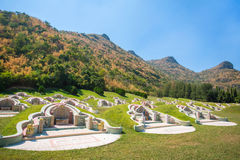 Chinese cemetery in Kanchanaburi province Royalty Free Stock Photos
